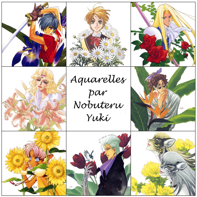 Aquarelles fleuries de Nobuteru Yuki